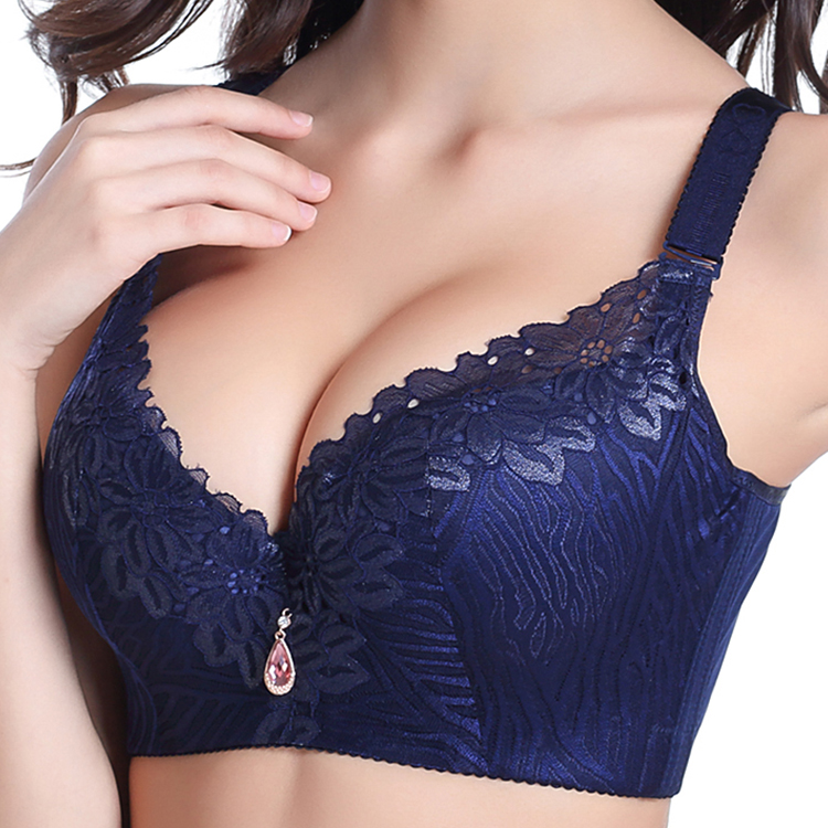 New Womens Ladies Push Up Deep V Padded Full Lace Vest Bra
