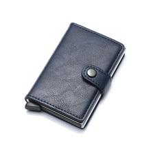 Bycobecy бизнес держатель для Карт RFID металлический кошелек кошельки с защитой от краж автоматический Pop Up Card Case алюминиевый сплав чехол для кредитных карт