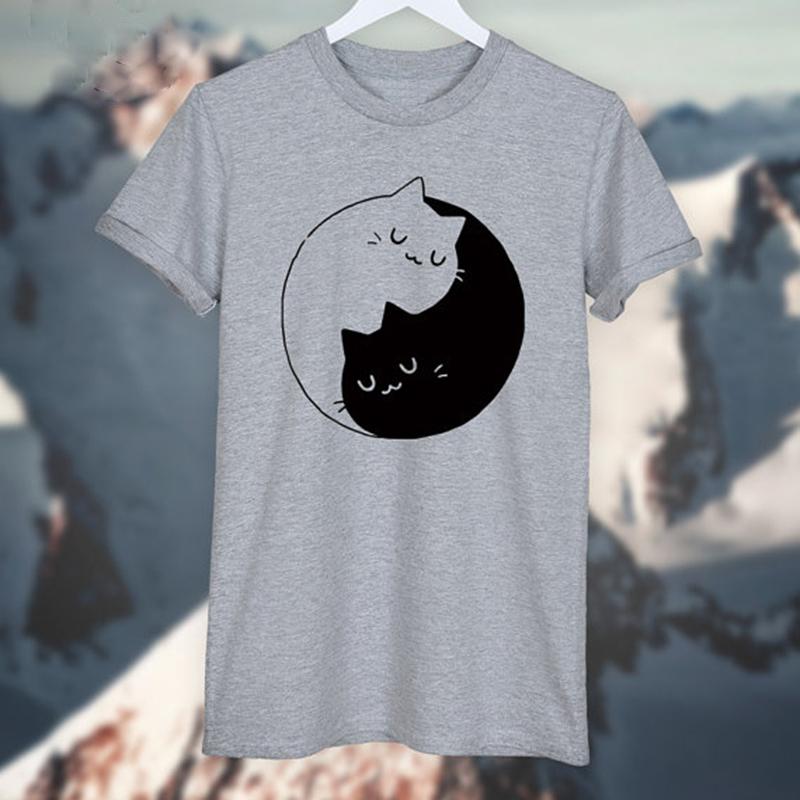 HTB1v2AaOFXXXXbOXXXXq6xXFXXXq - Yin Yang Cats Kittens T-SHIRT Women T shirt Cotton Casual
