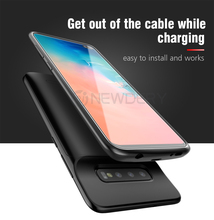 Egeedigi Slim shockproof 360 Full protection Bank Power Charging Case For Samsung Galaxy S10 S10e S10 Plus Backup Power Cover
