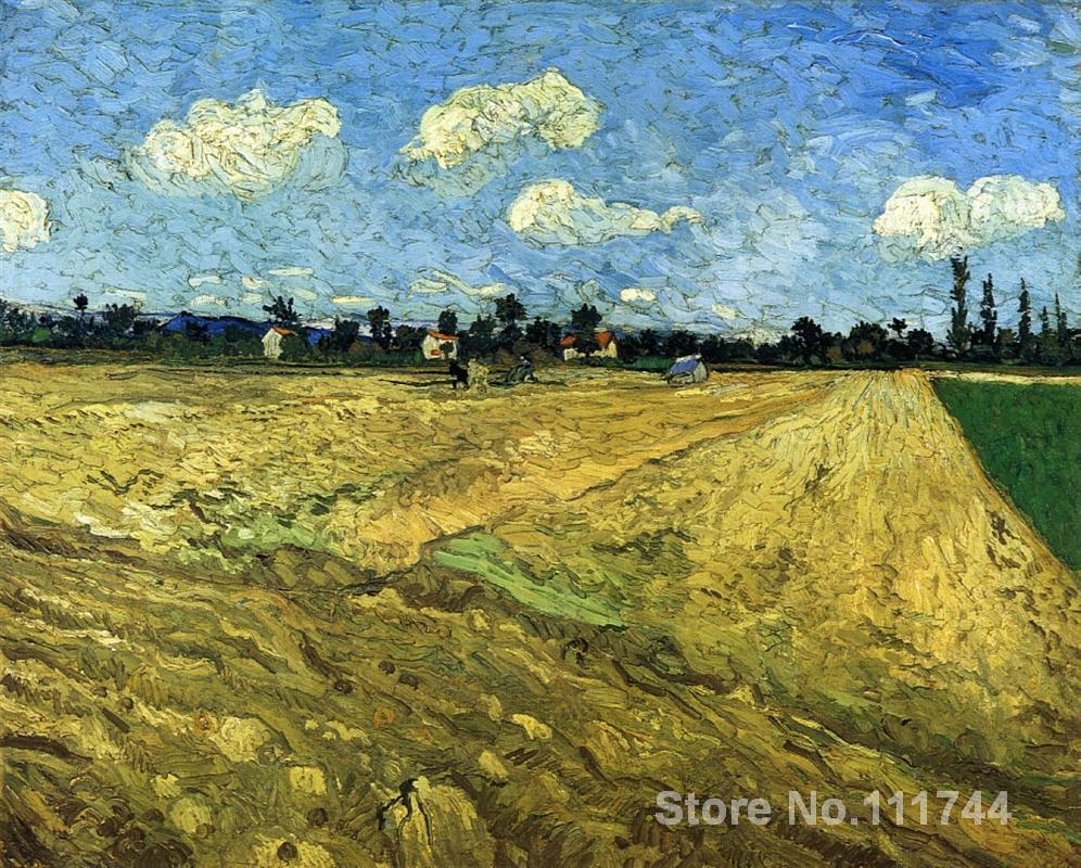 Modern art The Ploughed Field by Vincent Van Gogh paintings for living room Hand painted High quality