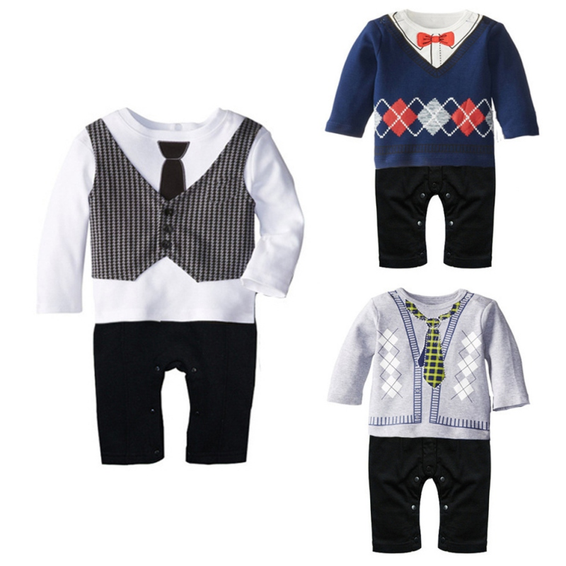 Hot Arrival NEW HOT Toddler Baby Boy Gentleman Long Sleeve Romper Jumpsuit Bodysuit Clothes Outfit H99 infant toddler baby boy gentleman long sleeve romper jumpsuit clothes outfit