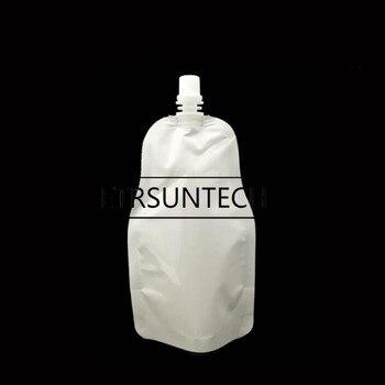 300pcs 250ml White Plastic Packing Bag Juices Liquid Coffee Milk Soy Sauce Bag Drink Spout Pouch Beverage Bag