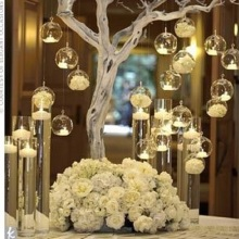 12 шт. брендовый подвесной подсвечник, подсвечники, стеклянные подсвечники, глобусы, Террариум, свадебный подсвечник, рождественские украшения для дома