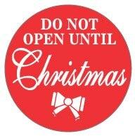 Dont Open Till Christmas.3000 Pcs Lot 40mm Diameter Do Not Open Until Christmas Self