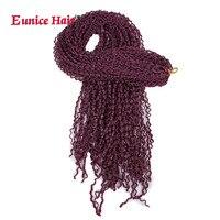 8-12 пакеты Kanekalon коробка косы Юнис волос 28 inch Длинные Синтетические косами крючком волос фиолетовый черный коричневый 2 цвета #613