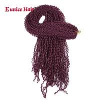 8 12 packs Kanekalon Box Braids Eunice Hair Extensions 28inch Long Synthetic Braids Crochet Hair Purple black brown #613 colors