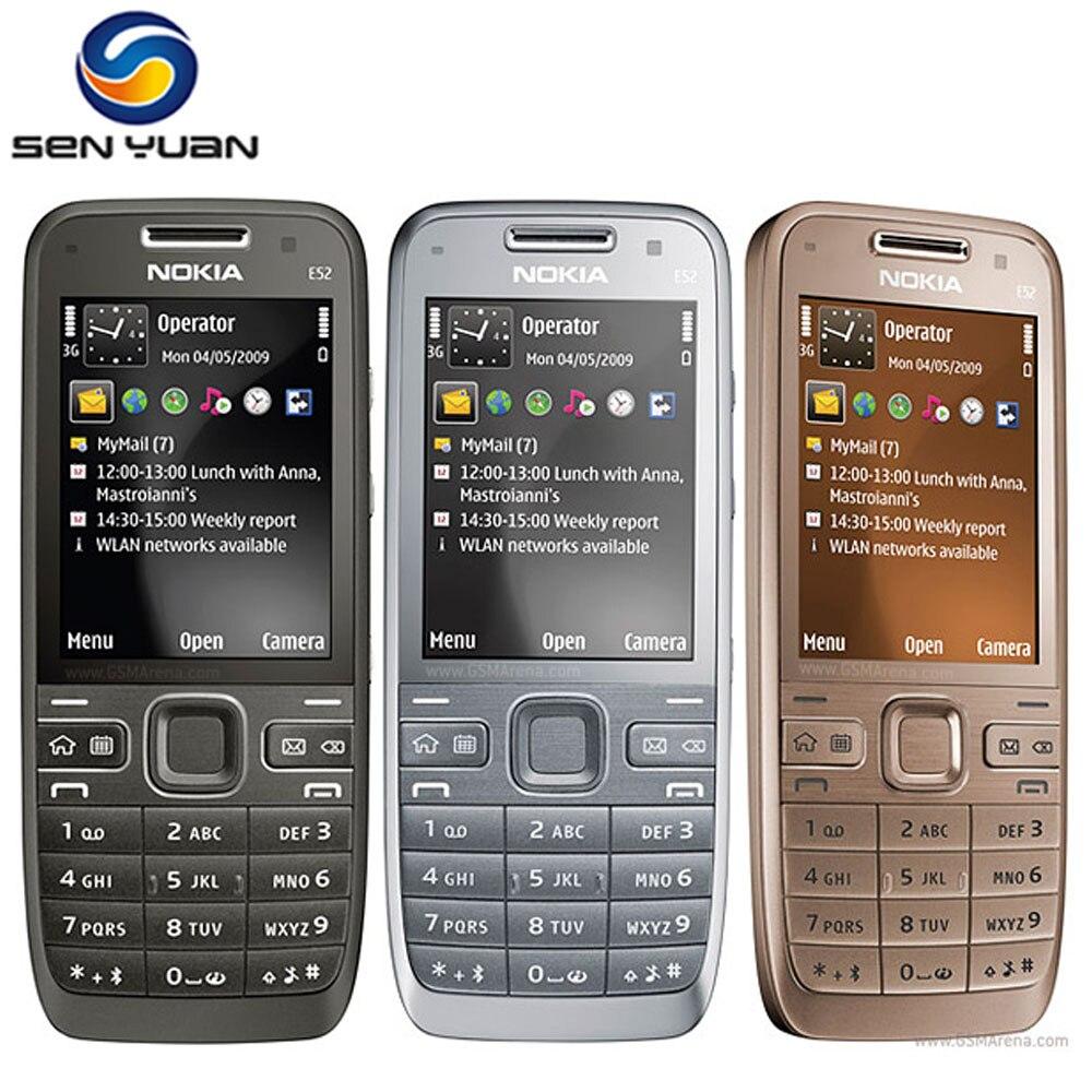 Цена за Оригинальный Разблокирована Nokia E52 Мобильный Телефон Bluetooth 3 Г WIFI GPS русский поддержка клавиатуры e52 телефон