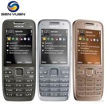 Orijinal Nokia E52 Unlocked Cep Telefonu Bluetooth 3G WIFI GPS rusça klavye desteği e52 telefon