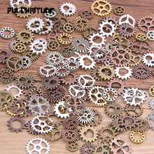 60PCS 4 Color Small Size 8-15mm Mix Alloy Mechanical Steampunk Cogs & Gears Diy Accessories New Oct Drop ship
