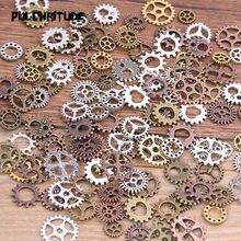 Conjunto de acessórios para diy, 60 peças, 4 cores, tamanho pequeno, 8-15mm, mix de liga mecânica, steampunk, equipamentos navio da gota de ocasião