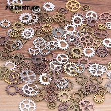 PULCHRITUDE 60PCS 4 Color Small Size 8-15mm Mix Alloy Mechanical Steampunk Cogs & Gears Diy Accessories New Oct Drop ship(China)