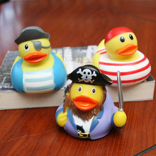 3pcs rubber duck baby shower bath bathroom swimming pool toy pirate modeling toys
