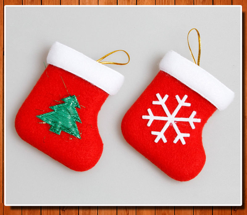 hot new personalised kids luxury embroidered xmas stocking sack santa christmas gift drop ornaments in pendant drop ornaments from home garden on - Embroidered Christmas Ornaments