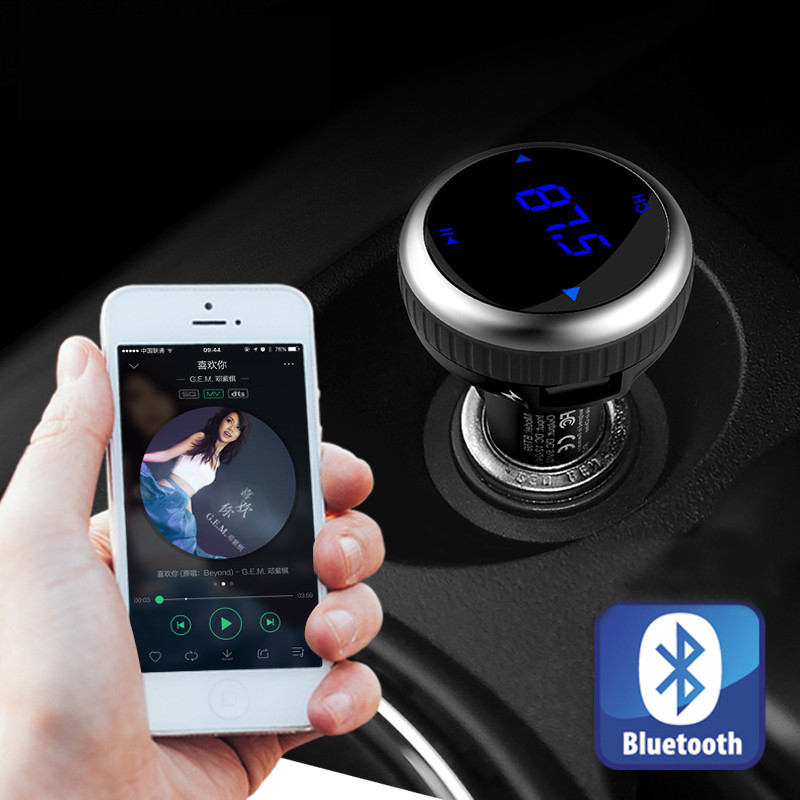 SAIYU Hot Car MP3 Audio Player Bluetooth FM Transmitter Wireless FM Modulator Car Kit HandsFree LCD USB TF Drop shipping