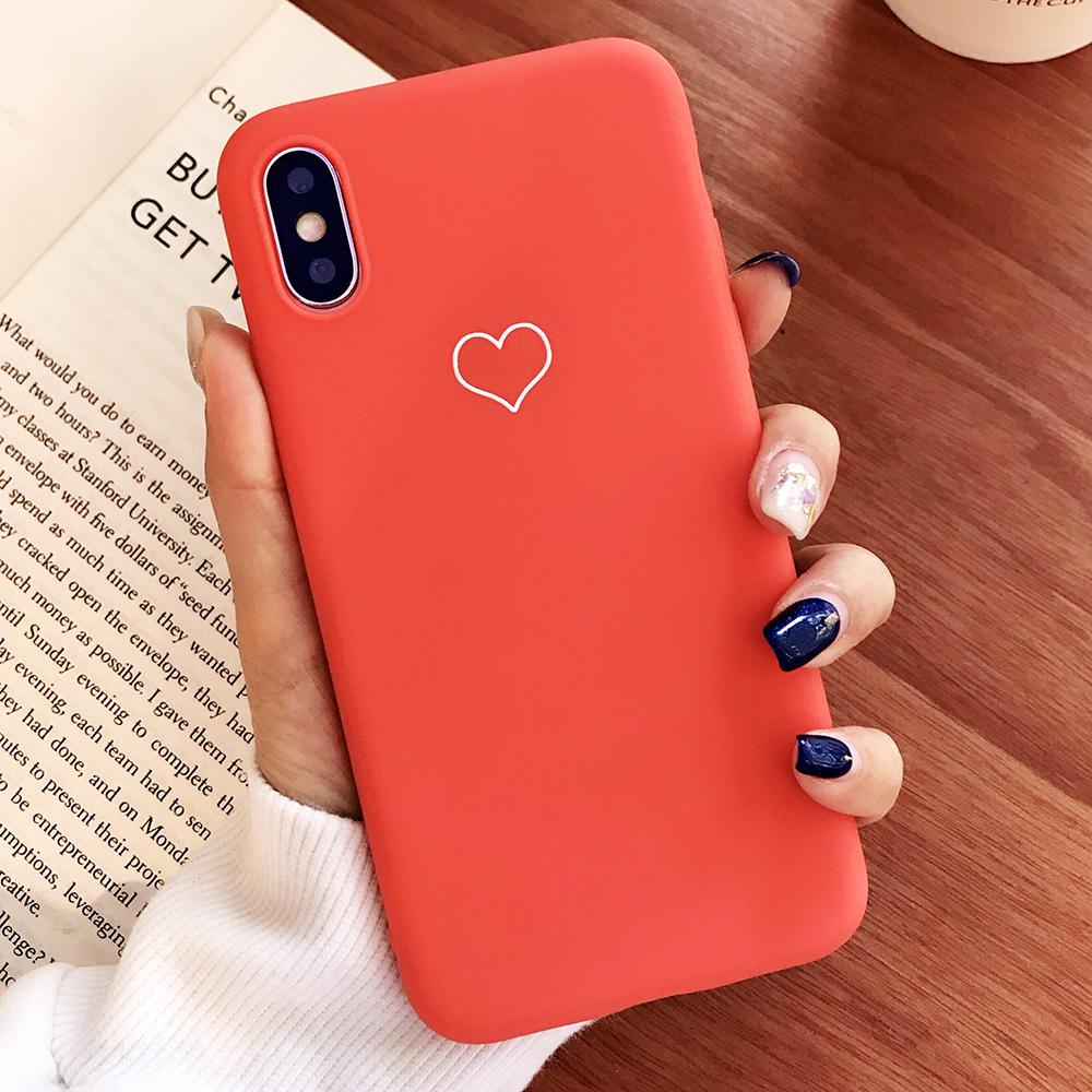 KIPX1091R_1_JONSNOW Phone Case For iPhone XS XR XS Max  6S 7 8 Plus Couples Style Love Heart Pattern Soft Silicone Case Capa Fundas