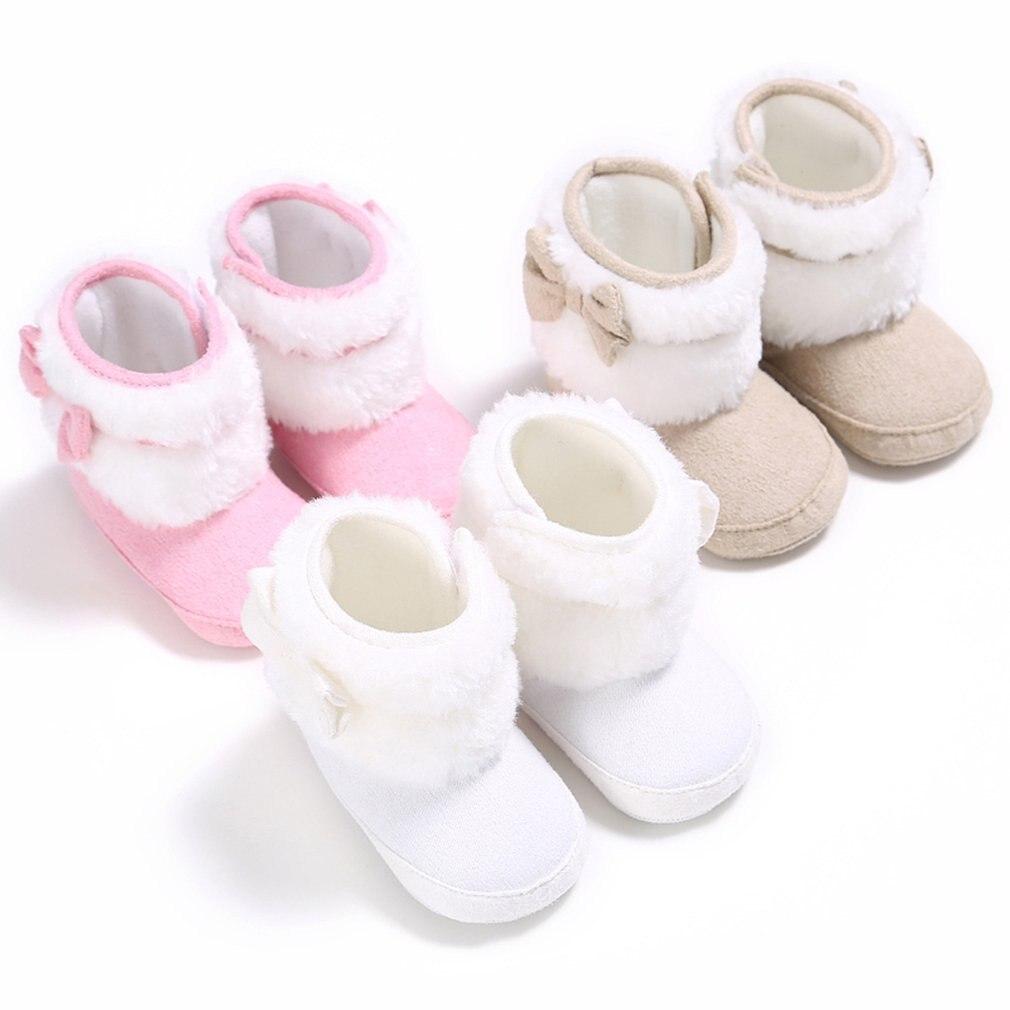 Mutter & Kinder Babyschuhe Sparsam 2018 Neue Winter Schuhe Infant Neugeborenen Baby Kleinkind Stiefel Jungen Mädchen Weiche Sohle Blume Bogen Krippe Schuhe Warme Stiefel Prewalker 0-18 Mt