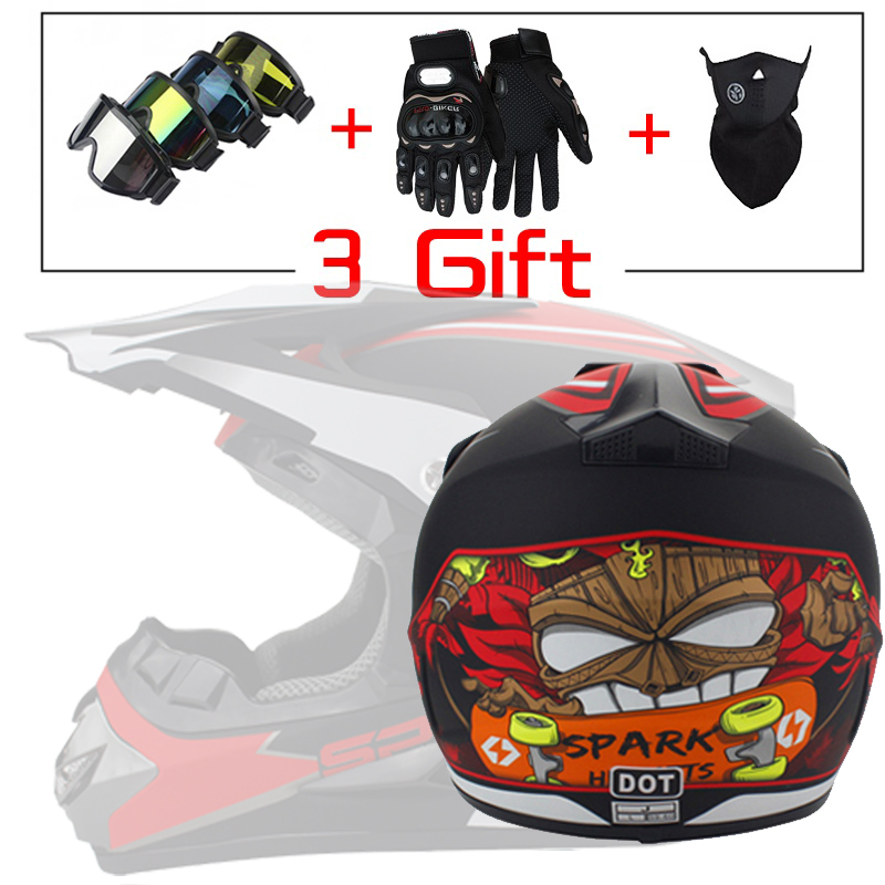 New Free 3 Gift Fashion Design Professional Light Motorcycle Off-road Helmet Downhill Mountain Helmet Suitable For Kid