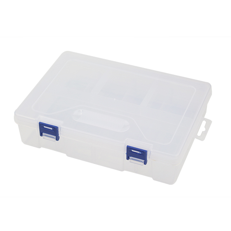 Electronic Accessories Storage Box 3x4 grid 2 layer Detachable Plastic Storage Case for  Electronic Components for