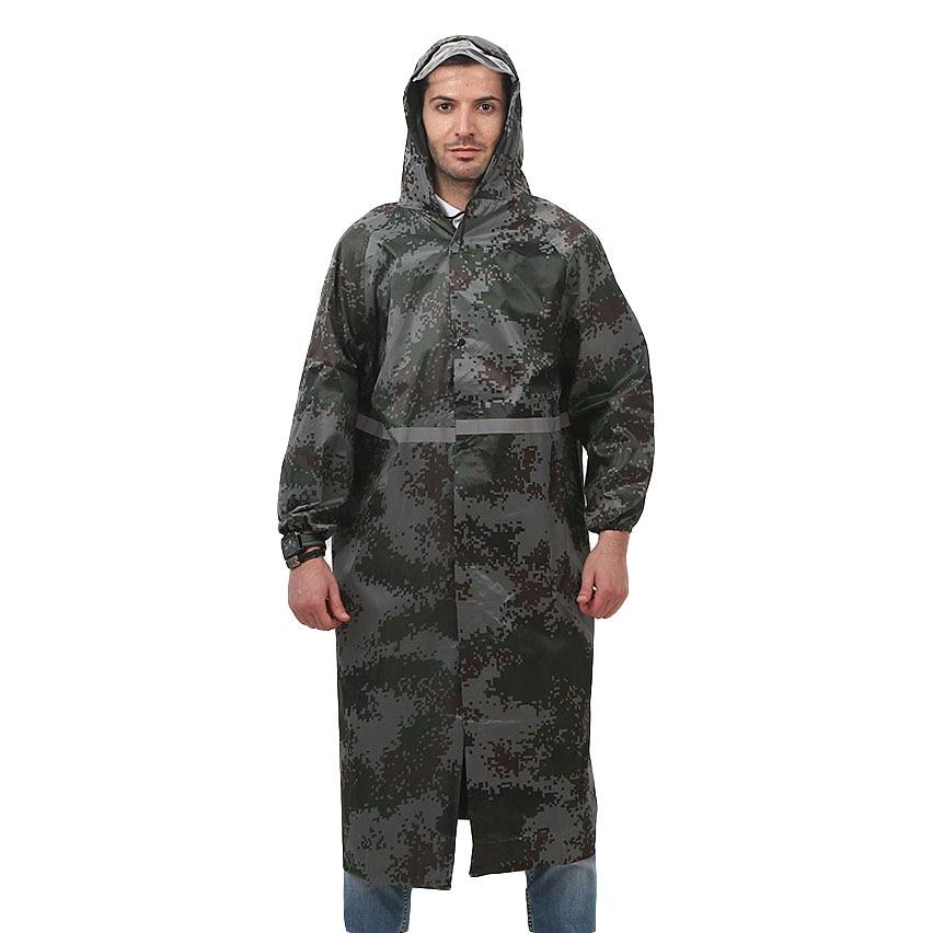 Camouflage Raincoat Long Style Waterproof Rain Coat With Reflective strap Work Clothing Men Women Adult Raincoats Workwear is new skiip32nab12t49 igbt module