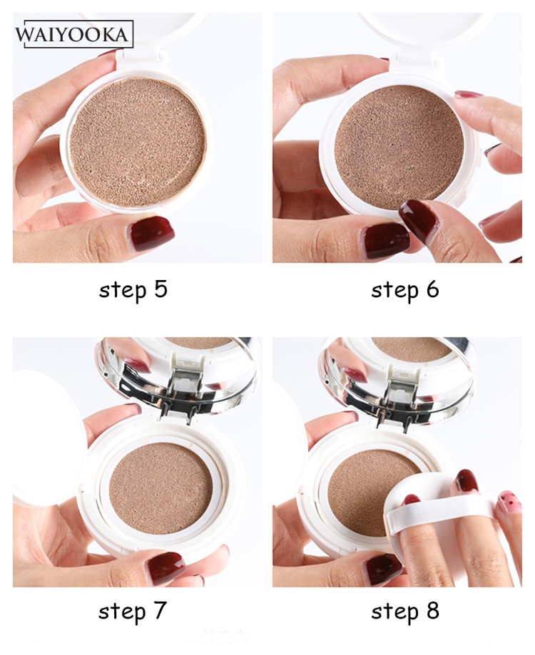 Image 5 - Make Up Case Air Cushion Sponge Powder Puff Empty Box Liquid Foundation BB Cream Makeup Box for cosmetics Dressing Table Storage-in Makeup Organizers from Home & Garden