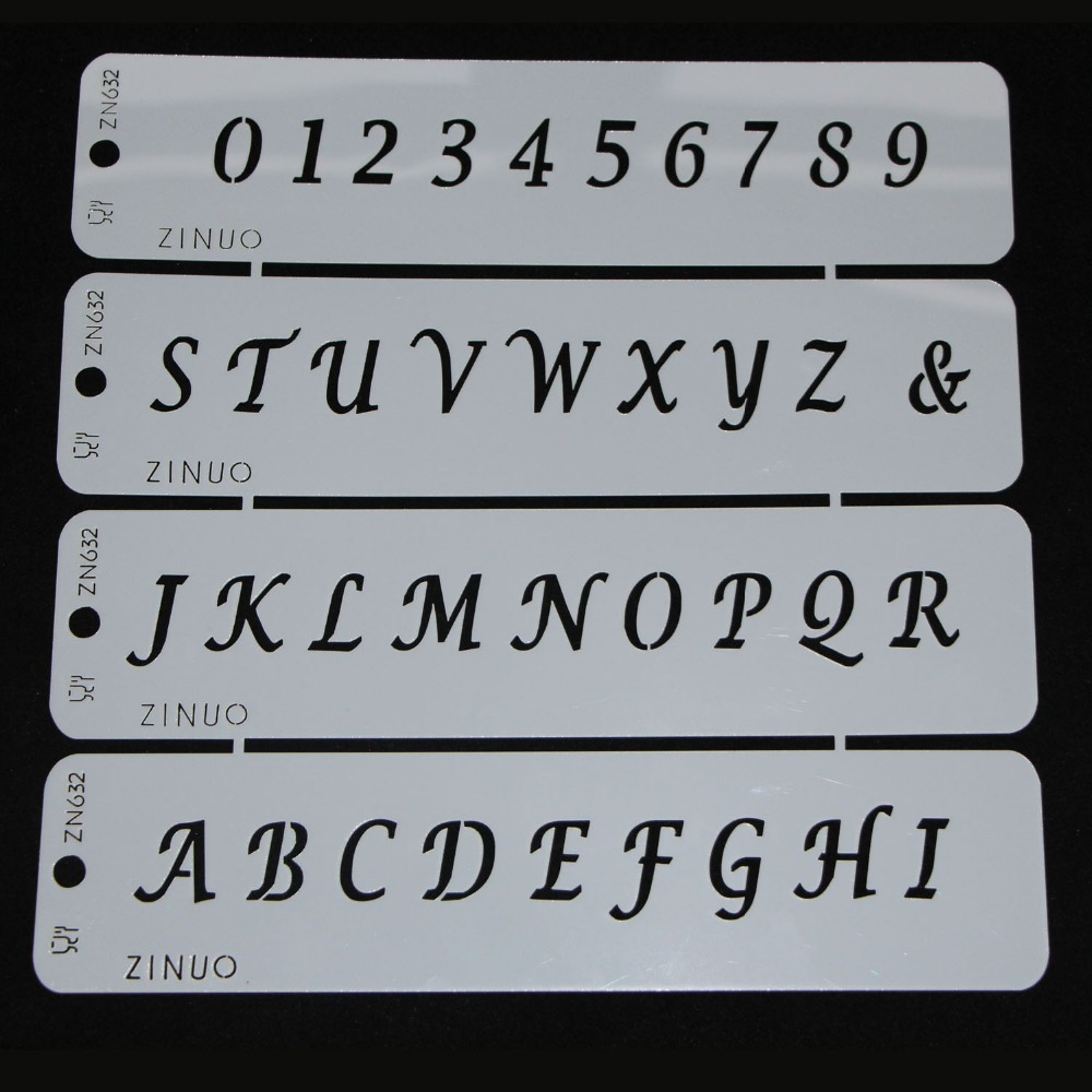 Numbers With Letters Arriving Cake Stencil Kitchen ...