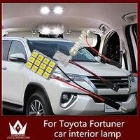 Tcart 6 pcs Auto LED Ampoules Blanc Voiture Intérieur Éclairage LED lumière Kit T10 W5W Led Lampe de Lecture Pour Toyota Fortuner 2005-2016