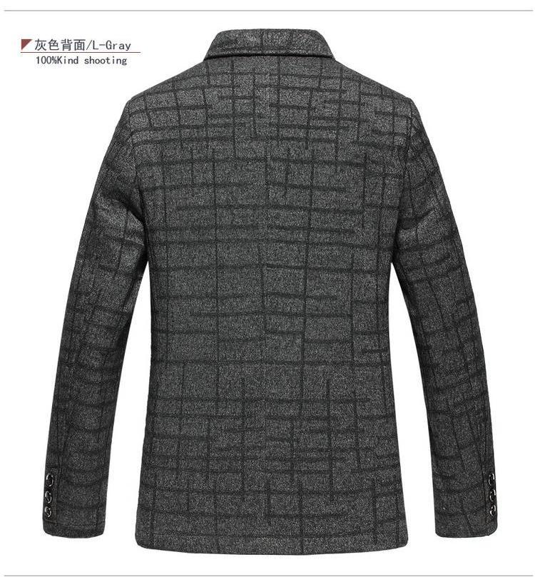 EWQ/дизайнерский плащ, блейзеры для мужчин или женщин, свободное черно белое клетчатое повседневное пальто для мужчин 2020, Весенняя мода, нови... - 2