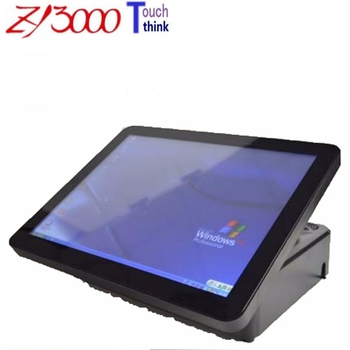 hot sale 15 inch j1900 4G ddr3 hdd Msata 64G SSD WIFI capacitive multi all in one  pos terminal / pos system