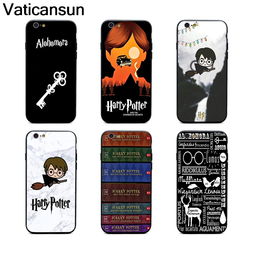harry potter book hogwarts mystery phone cases TPU+PC Black covers for iPhone X 6 7 8 plus 5 5s 6s se for Apple X best diy case