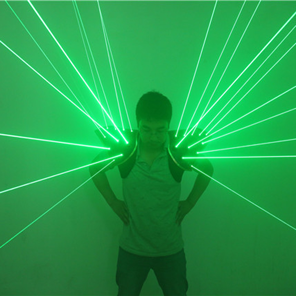 Stars beam galaxy 532nm Red Green Laser Suit With 20pcs lasers Dance Stage Show Light Vest Creative Waistcoat for DJ Club/Bars