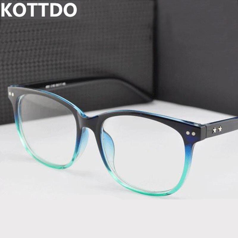 Optical Glasses Accessories : KOTTDO Fashion Square Eyeglasses Retro Men Women Designer ...