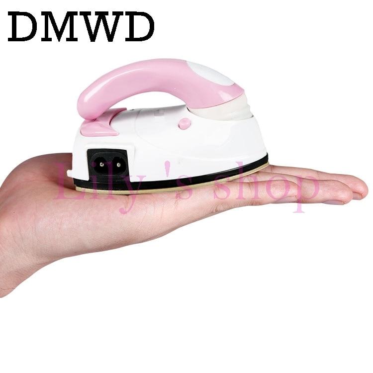 DWMD MINI Portable Foldable Electric garment iron Clothes travelling Teflon Baseplate Handheld dry ironing 100-240V 110V EU US