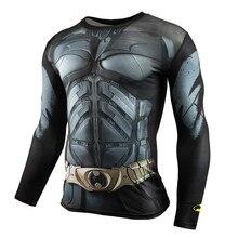Elastic Tight Batman T-Shirts Fitness Men Compression Shirt Marvel Avengers Anime Gyms Crossfit Tshirt Summer Clothes