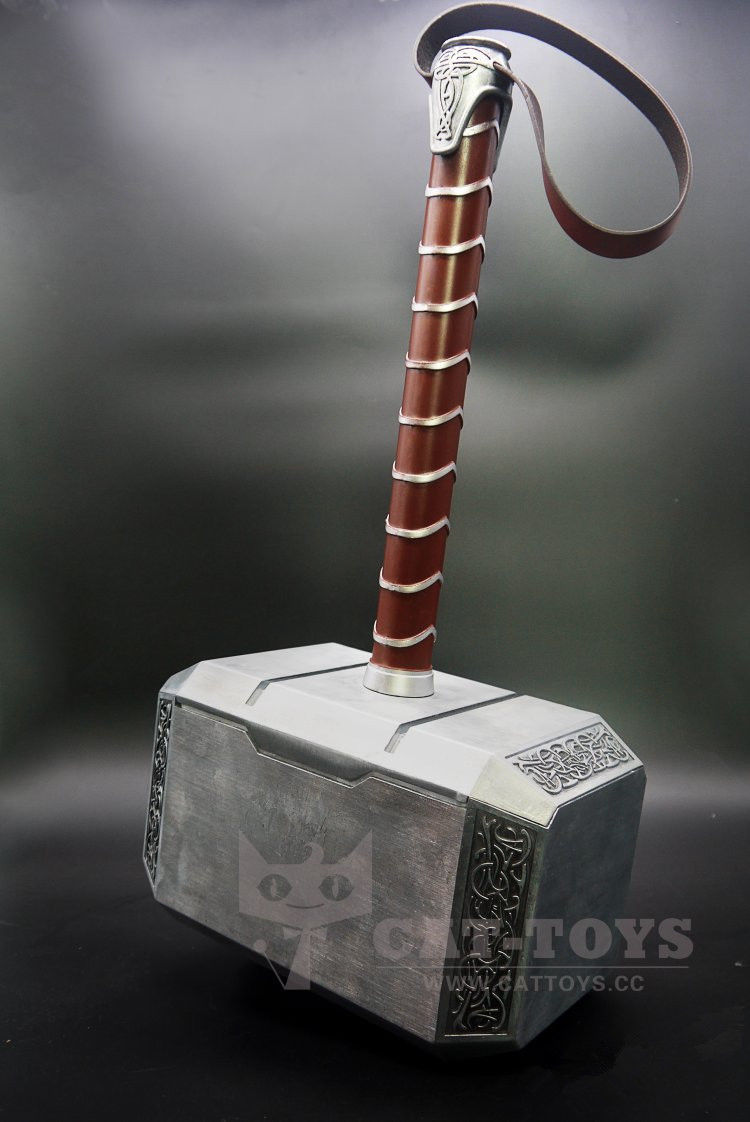 1:1 Scale Full Metal Thor Hammer Mjolnir 1/1 Replica Thor Custom Cosplay Hammer Collection Model Toy cosplay props