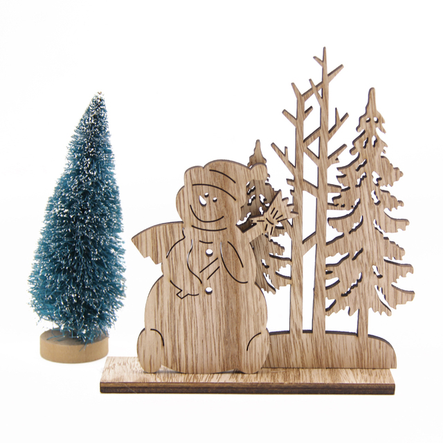 Christmas Wooden Ornaments for Home Decor