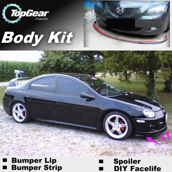 Bumper Lip Deflector Lips For Chrysler Neon Front Spoiler Skirt For Top Gea Friends Car View Tuning  Body Kit  Strip 180sx led ヘッド ライト