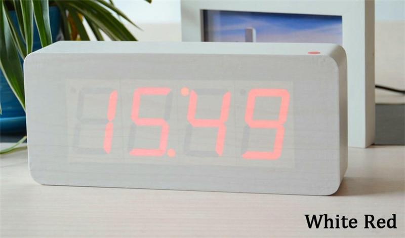 Veliki brojevi Digitalni satovi Vrhunske budilice s temperaturom, - Kućni dekor - Foto 4