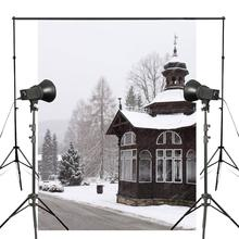 Snow Scenery Photography Background House Road Backdrop Wedding Photo Studio Props Wall Winter Photography Backdrop 5x7ft 5x7ft wood wall vinyl photography backdrop photo background studio props high quality new best price