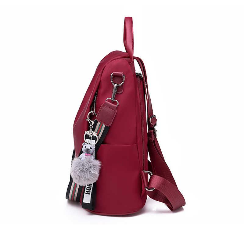 f753793a5719 LONGJUNFEER New Women's Anti-Theft Backpack High Quality Oxford Waterproof  Multi-Purpose Travel Bag Popular Girl Back Pack ZL002