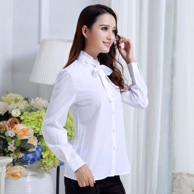 HTB1v2DANpXXXXXnapXXq6xXFXXXC - FREE SHIPPING White Blouse Shirt Women Work Wear Long Sleeve JKP092