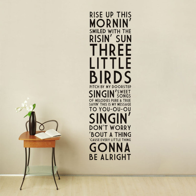 Bob Marley Rise Up This Vinyl Wall Decal Quotes Home Decor Living Room Bedroom Removable