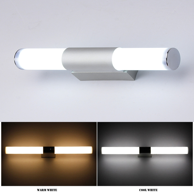 DONWEI Simple style 12W 16W 22W LED Bar Wall Light Makeup Mirror Lights Indoor Bathroom Dressing room Kitchen Decor Wall Lamp 2