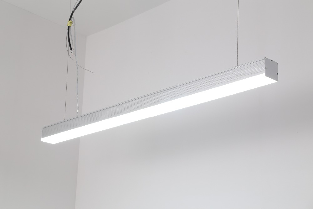 Free Shipping office linear led ceiling light with CE listed 1.2m  1.5m  1.8m  40w 50w 60w 3 years warranty silver and white