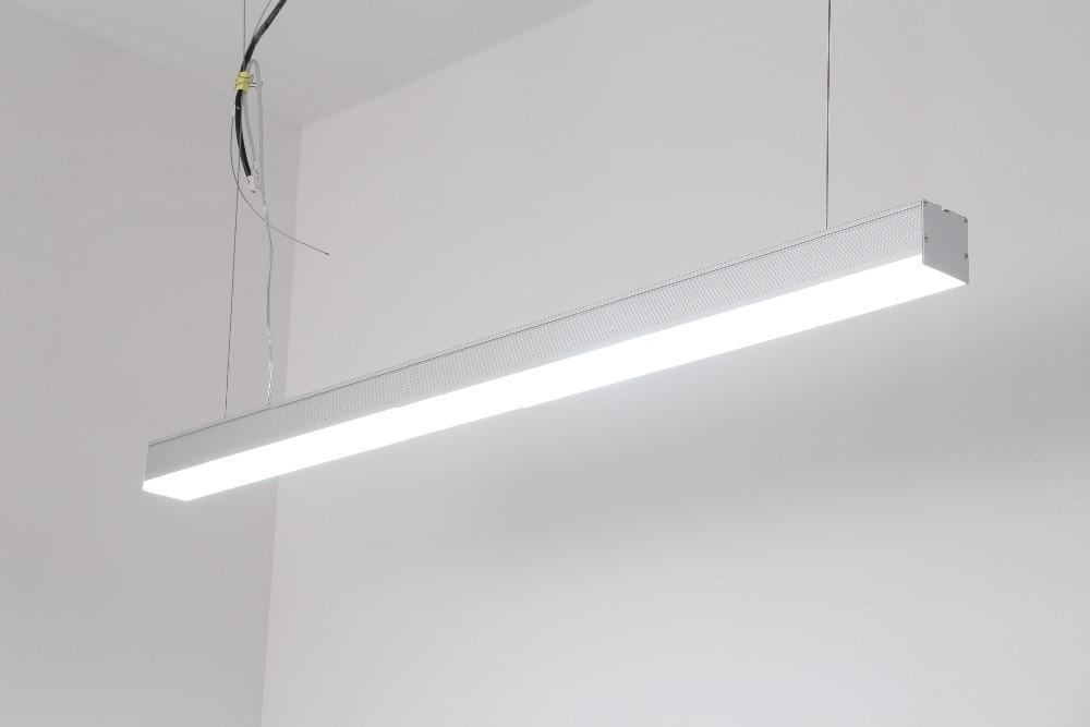 Livraison gratuite plafonnier led linéaire de bureau avec CE répertorié 1.2 m 1.5 m 1.8 m 40 w 50 w 60 w 3 ans de garantie argent et blanc