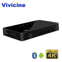 Vivicine карманный мини 4 К проектор, Android 6,0 Восьмиядерный WiFi светодио дный светодиодный проектор для домашнего кинотеатра, HDMI USB ПК видеоигра мо
