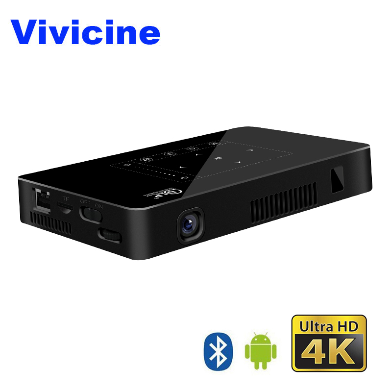 Vivicine карманный мини 4 К проектор, Android 6,0 Octa core Wi-Fi светодиодный Проектор для домашнего кинотеатра, HDMI ПК USB видео игры мобильный Proyector