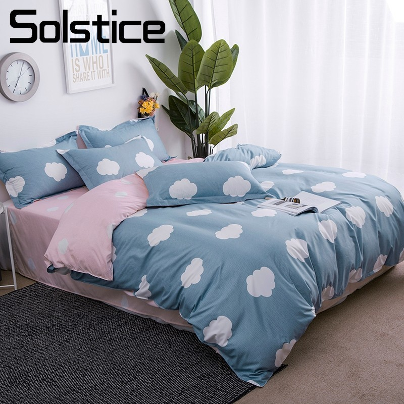 Solstice Pillowcase Bed-Sheet Leisurely Bedding-Sets Duvet-Cover Linen Home-Textile Pink