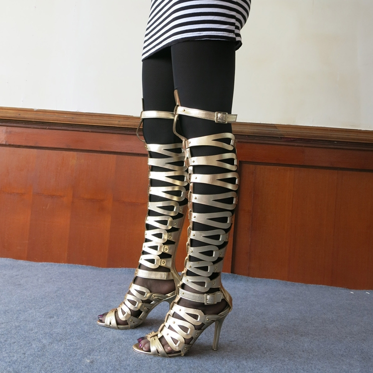 402b7bbf50ef New Desigual Brand Womens Strappy Roman Gladiator Buckle Knee High ...