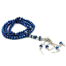 6mm 10mm Islamic Crystal Prayer Beads Muslim Necklace Color Crystal Bead with Gold Silver Collar Pendant Bracelet Rosary Bead
